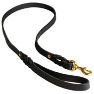 Walking Training Leather English Pointer Leash Braided
