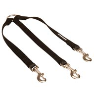Triple Nylon English Pointer Leash Coupler for Walking 3 Dogs at a Time