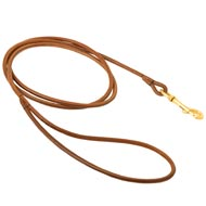 Round Leather English Pointer Leash for Dog Shows