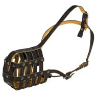 Royal Nappa Leather Basket English Pointer Muzzle