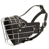Leather Padded Wire Cage English Pointer Muzzle for Agitation Training