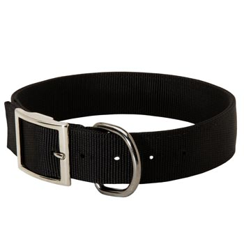 Nylon English Pointer Collar with Adjustable Steel Nickel Plated Buckle