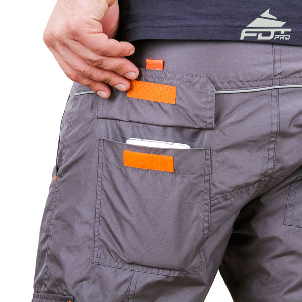 Convenient Design FDT Professional Pants with Durable Side Pockets for Dog Training