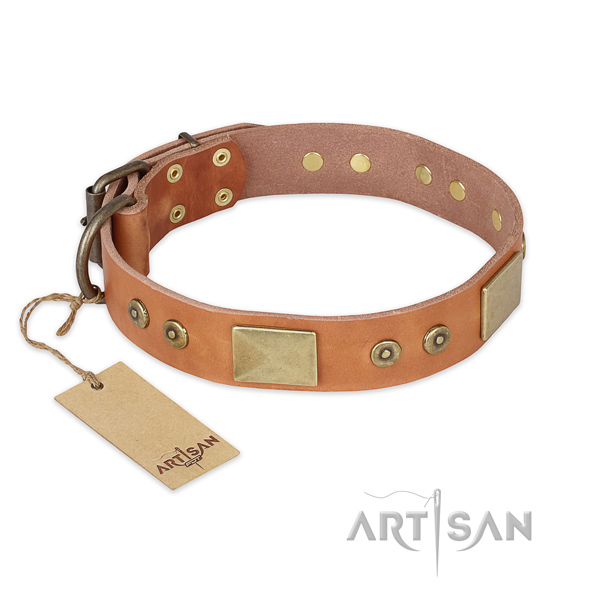 Extraordinary leather dog collar for comfy wearing