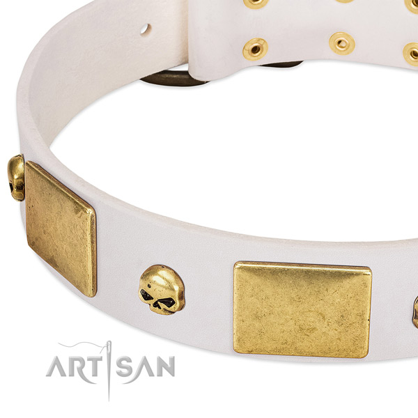 Reliable full grain genuine leather collar handmade for your dog