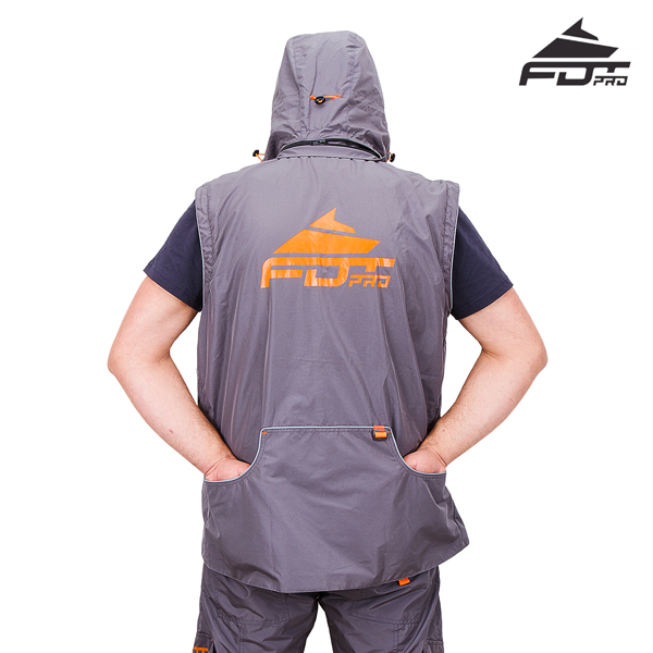 Reliable Dog Training Suit Grey Color from FDT Pro