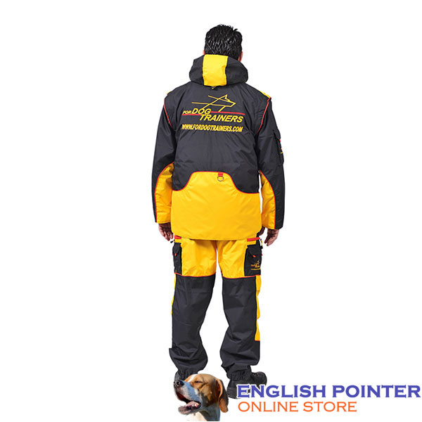 Membrane Fabric Comfortable Training Suit with Several Pockets