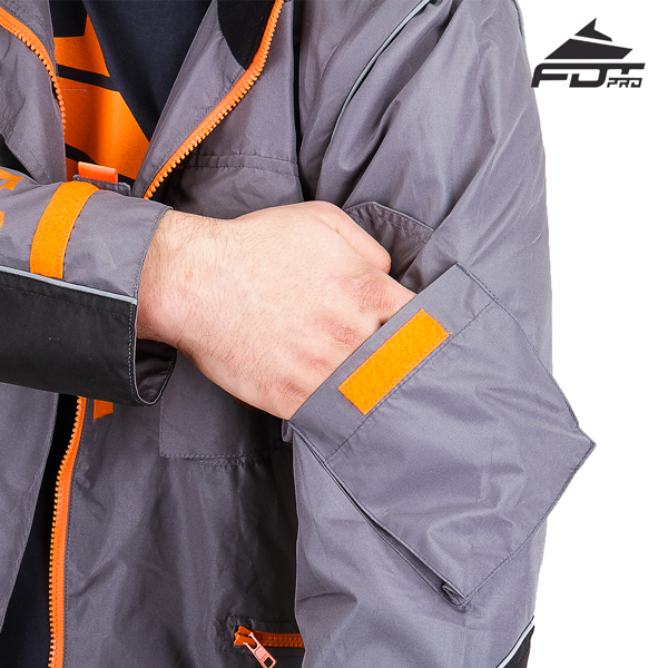 Handy Sleeve Pocket on FDT Professional Design Dog Tracking Jacket