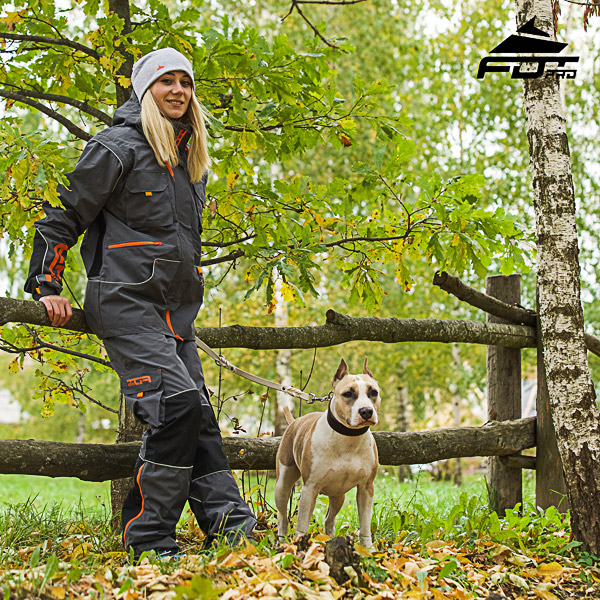 FDT Pro Orange Logo on Men / Women Design Pants for Active Dog Trainers
