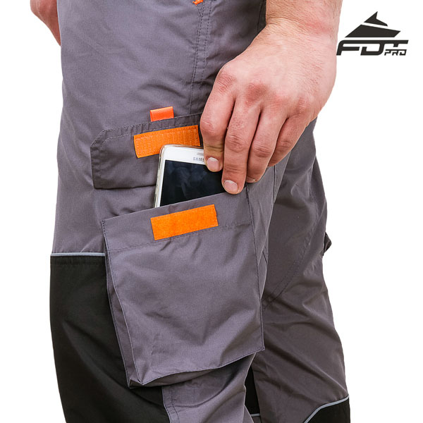 Pro Design Dog Tracking Pants with Strong Velcro Side Pocket