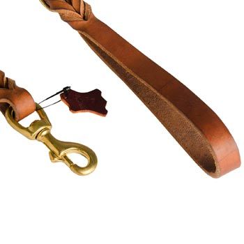 English Pointer Leather Leash for Canine Service