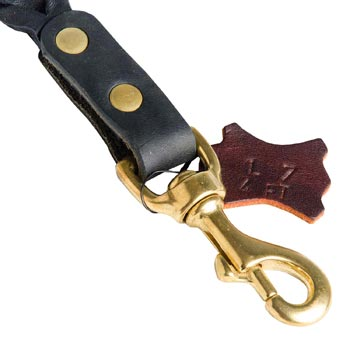 Solid Snap Hook Hand Riveted to the Leather English Pointer Leash