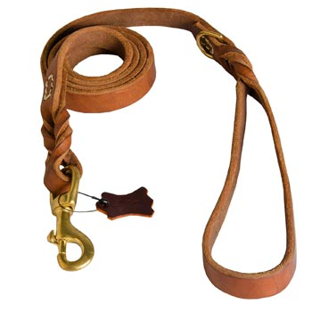 Leather Leash for English Pointer Successful Schutzhund Training